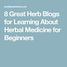 8 Great Herb Blogs for Learning About Herbal Medicine for Beginners