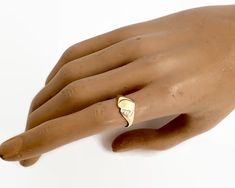 9 carat gold heart signet ring, could be monogrammed, grams, size / 7 by CardCurios on Etsy Signet Ring, Carat Gold, Heart Of Gold, Vintage Rings, Heart Shapes, Handmade Items, Monogram, Band, Sterling Silver