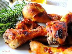 Klejace, lekko slodkie i pikantne udka z kurczaka idalne na obiad lub impreze. Palce lizac ......