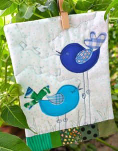 Blue Birds. Another idea for my wallhanging.