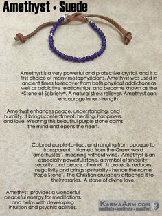 Amethyst connects the physical plane with higher realm, making it a good choice when working with the Third Eye Chakra. Amethyst also provides a wonderful peaceful energy for meditations, and helps with developing intuition and psychic abilities. #love #yoga #manifest #heart #bracelet #goals #friendship #happiness #bead #meditate #mantra #healing #zen #karma #prayer #spiritual #friendship #lucky #luck #luxury #power #energy #crystal #motivate #chakra  #red #Om#Buddha #mantra #meditation…