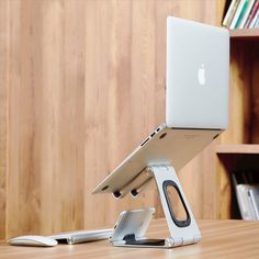 sano creative design lab is going to relieve and prevent my posture problems with their Apex Stand - the clean and ergonomic laptop, pad and phone stand. Diy Laptop Stand, Iphone Stand, Laptop Desk, Tablet Stand, Smartphone, Macbook Air, Logo Typo, Cable Organizer, Best Laptops
