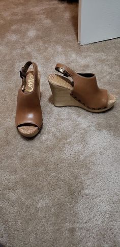 c36830d9eff9 Sam Edelman Open Toe Wedge  fashion  clothing  shoes  accessories   womensshoes  sandals (ebay link)