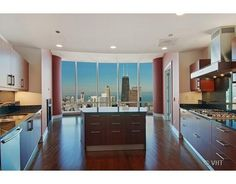 Condo Kitchen in the sky at Trump International Hotel & Tower in Chicago