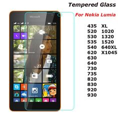 2.5D 9H Tempered Glass For Nokia Lumia 435 520 530 535 630 640 640XL 730 820 950 950XL 1020 Screen Protector Guard Film