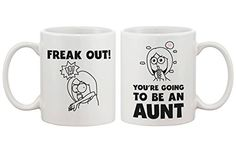 Freak Out You Are Going To Be An Aunt Cute Mug Baby Announcement Gift for Sister >>> Read more reviews of the product by visiting the link on the image. (This is an affiliate link)