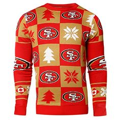 647f97ca236 NFL Mens 2016 Patches Ugly Crew Neck Sweater San Francisco 49ers     Learn  more