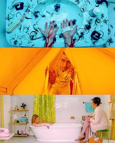 colors from The Royal Tenenbaums