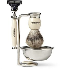 DR Harris Shaving Set on Stand Ivory D.R. Harris Shaving Set for Gentleman Shaving Set, Wet Shaving, Hipsters, Gifts For Grooms Parents, Christmas Gifts For Husband, Buy Clothes Online, Mr Porter, Men's Grooming, Pretty And Cute