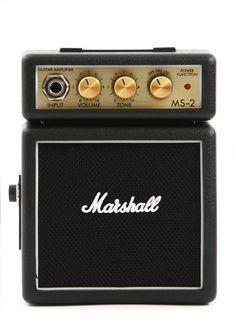 New Marshal MS-2 1-Watt Battery-Powered Black Micro Electric Guitar Amplifier #Marshall