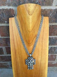 Silver Multi Strand Cross Necklace - NEK266SI-Tee for the Soul