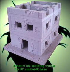 Miniature Wargaming Urban Terrain System by Stephen Highlen — Kickstarter Foam Crafts, Diy And Crafts, Cardboard Box Houses, Warhammer Games, Dungeons And Dragons Miniatures, Minis, Warhammer Terrain, Game Terrain, Dungeons And Dragons Homebrew