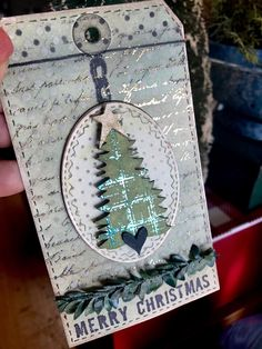 Studio490Art - Merry Christmas tag... my friends at The Crafty Scrapper, in Waxahachie, Tx.  invited me to participate in their 12 tags of Christmas blog posts.