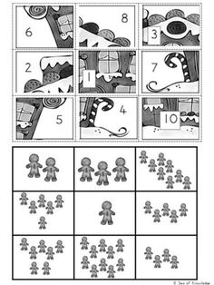The ultimate engaging math game? Use these Free Christmas Math Puzzles that feature gingerbread men! Fun puzzles with 'mystery pictures'! First Grade Lessons, Christmas Math, Maths Puzzles, Free Math, Math For Kids, Hands On Activities, Best Teacher, Learning Resources, Math Games