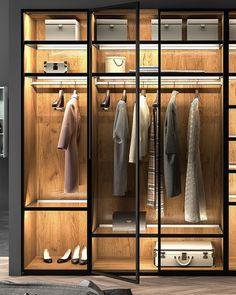 Glass Wardrobe, Wardrobe Door Designs, Wardrobe Room, Wardrobe Design Bedroom, Closet Designs, Modern Luxury Bedroom, Luxury Bedroom Design, Luxurious Bedrooms, Bedroom Wall Designs
