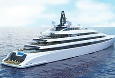 Monaco-based design studio The A group revealed the first renderings of 110m superyacht concept. The project came as the follow-up of to I Dynasty built at Kusch Yachts. When delivered in July 2015, she was the first yacht completed to full PYC certification without additional restrictions.
