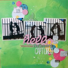 Hello Moment Captured - by Ginny Hughes using the Amy Tangerine Sketchbook collection from American Crafts