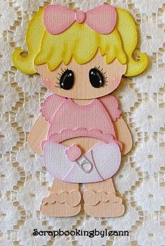 Baby Girl Paper Piecing for Premade Pages or Borders
