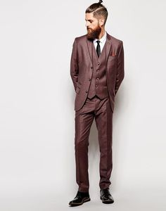 Burgundy Groom & Groomsmen Suit