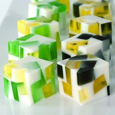 Superbowl Jello Shots (Flavored gelatin, sweetened condensed milk, vodka or rum)
