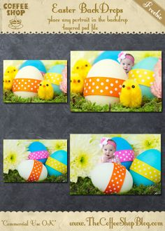 CoffeeShop Fun Easter BackDrops!