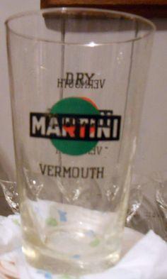 GRANDE BICCHIERE MARTINI DRY VERMOUTH vetro soffiato