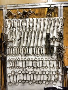 Nothing better then a wall of bits! Can't wait to organize my tack room with a bit board.