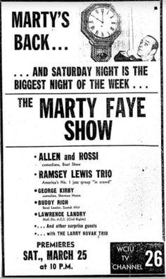 Marty Faye Show on WCIU-TV Channel 26.