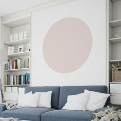 Circle Wall Sticker by Nutmeg Wall Stickers, the perfect gift for Explore more unique gifts in our curated marketplace. Guest Room Decor, Home Decor Quotes, Removable Wall Stickers, Geometric Wall Art, Block Wall, Decorate Your Room, Bedroom Wall, Bedroom Ideas, Wall Decals