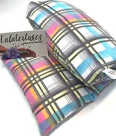 Natural Pain Relief Large microwavable heating pad Lavender Pastel Plaid The Flax Sak Hotcold pack with removablewashable cover Perfect get well gift for everyone -- Check out the image by visiting the link.Note:It is affiliate link to Amazon.