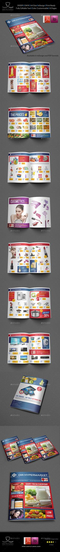 Supermarket Products Catalog Brochure Template Vol2