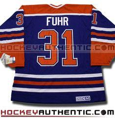 Grant Fuhr Edmonton Oilers CCM vintage jersey  6f8409c6b