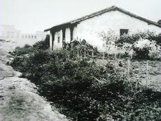 1910 - Casa do Grito quando ainda era uma chácara particular, no bairro do Ipiranga. Ao fundo podemos ver o atual Museu Paulista. Acervo: Imagem de divulgação cedida pela Gazeta do Ipiranga.