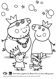 Cartoon Peppa Pig Coloring Pages Printable And Book To Print For Free Find More Online Kids Adults Of