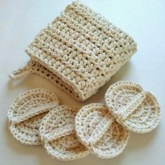 Wash cloth and scrubby set, spa set, crochet spa set, oil cleansing set