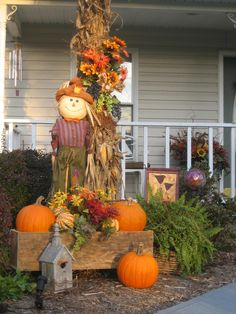 I love everything but the scarecrow.  Store bought ones look cheap to me.