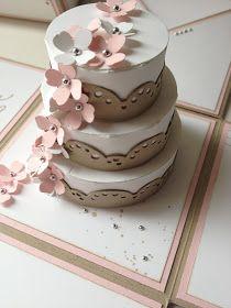 Stempellicht: Anleitung für die Torte in meiner Explosionsbox zur Hochzeit. HOW TO MAKE CAKE, photo tutorial