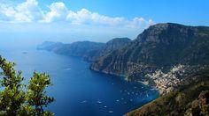 Sentiero Degli Dei - A fantastic view of Positano (Amalfi coast) during the exploration from Sentiero degli Dei.