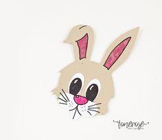 DIY påskepynt barna kan lage =) Gratis mal på bloggen!   { Påskehare i kartong // Påskeaktivitet // Mal } Barn, Diy, Easter Bunny, Blogging, Easter Activities, Converted Barn, Bricolage, Do It Yourself, Homemade