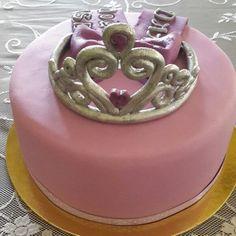 Tiara birthday cake topper