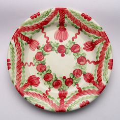 usair Plates, Tableware, Design, Red, Green, Tablewares, Licence Plates, Dishes, Dinnerware