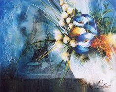 Raymond Poulet Floral Watercolor, Acrylics, Florals, Painting, Art, Chicken, Paint, Floral, Art Background