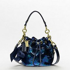Poppy sequin baby cinch bag - i love a blue bag with jeans. 42a40b50d6d90