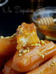 balah el sham1 Algerian Cookies Recipe, My Favorite Food, Favorite Recipes, Arabian Food, Arabic Sweets, Ramadan Recipes, Beignets, Food Art, Cookie Recipes