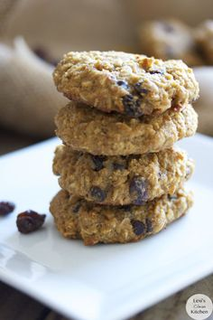 Gluten-free and Dairy-Free Oatmeal Raisin Chocolate Chip Cookies (no refined sugar)