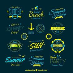 Retro-summer-badges