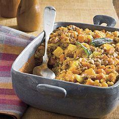 Cornbread Stuffing With Sweet Potato and Squash | MyRecipes.com