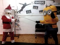Minion VS Santa @ Theseas Fencing Club, Heraclion, Crete, Greece