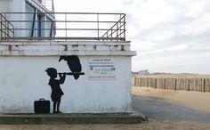 Banksy pinta un nuevo mural en Londres que desafía a las autoridades francesas | VICE | Colombia