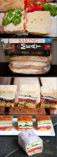 DIY Little pressed picnic sandwiches.